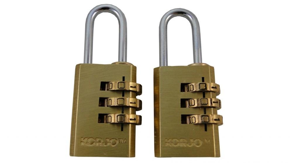 Korjo Duo Pack 3 Dial Combination Lock