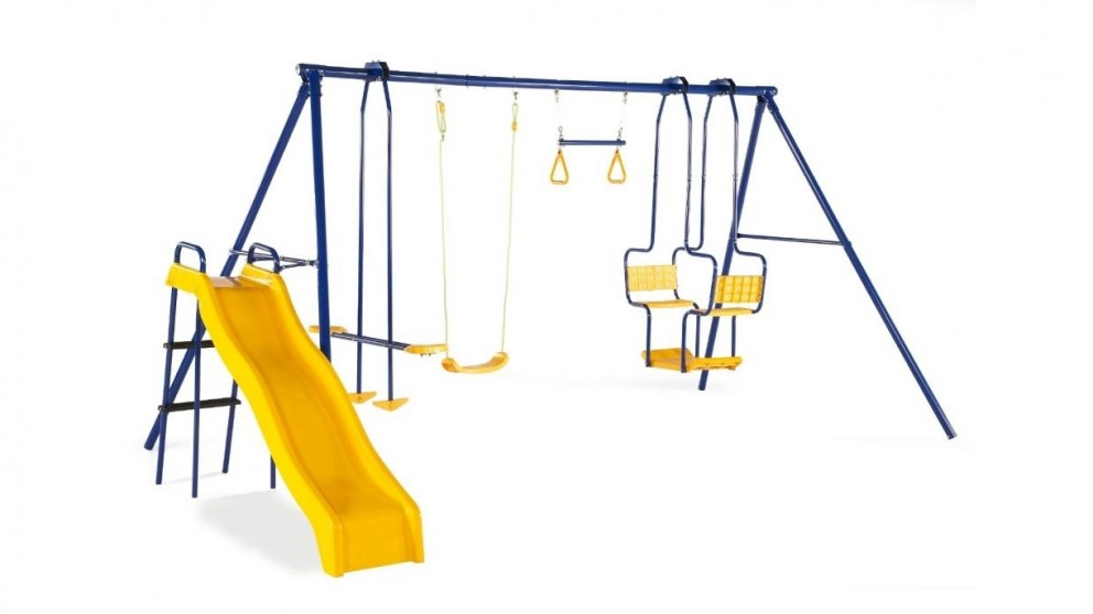 Plum 5 Unit Swing and Slide Set