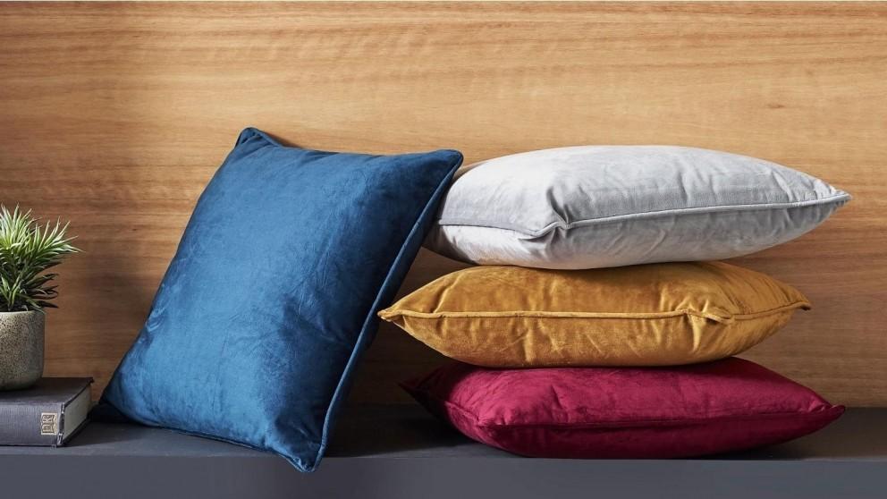 L'Avenue Mustard Velvet Cushion