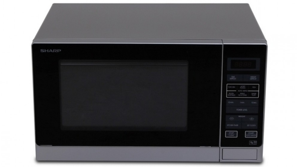 sharp carousel convection microwave. sharp 900w midsize microwave oven - silver carousel convection v