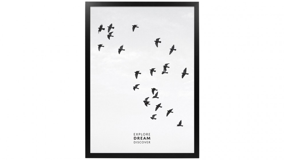 Profile Products Framed Art Explore Dream Discover 3 - 50x70cm