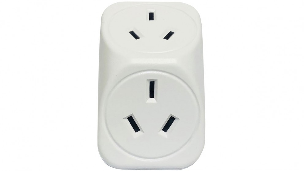 Vanco Triangle Double Power Outlet Adapter