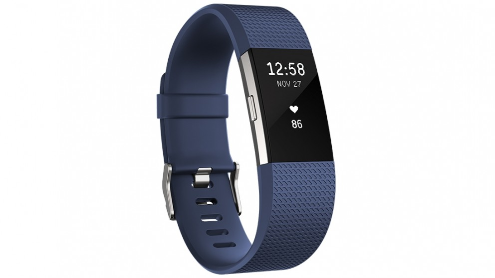 Fitbit Charge 2 Heart Rate + Small Fitness Wristband - Blue
