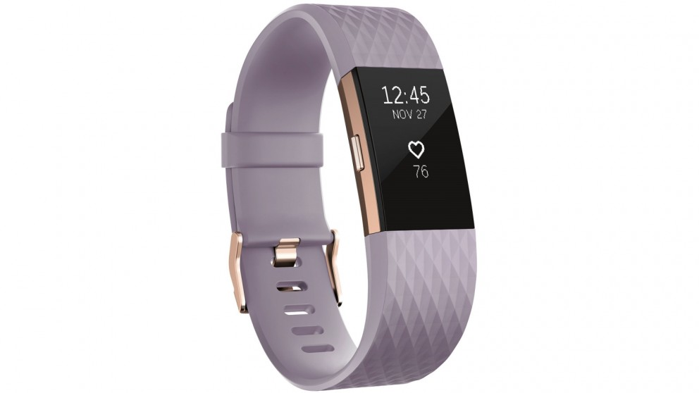 Fitbit Charge 2 Special Edition Small Heart Rate + Fitness Wristband - Lavender/Rose Gold