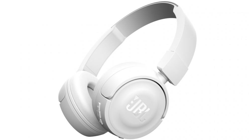 4b5a0537fff Buy JBL T450BT Wireless On-Ear Headphones - White | Harvey Norman AU