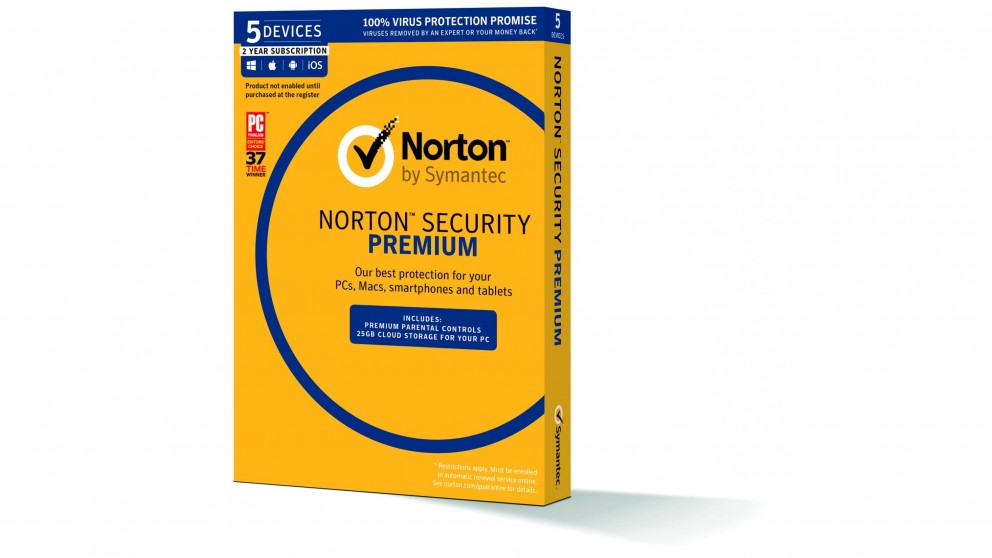 Norton Security Premium - 2 Years for 5 Devices