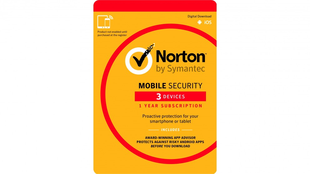 Norton Mobile Security - 1 Year for 3 Devices