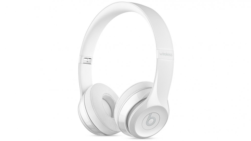 cheap beats solo3 wireless on ear headphone gloss white harvey norman au. Black Bedroom Furniture Sets. Home Design Ideas