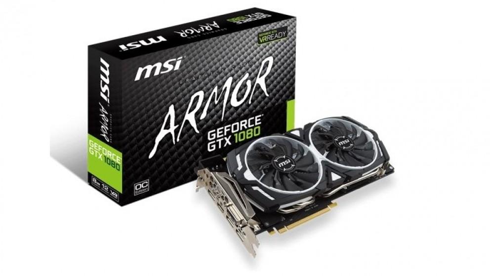 MSI NVIDIA GeForce GTX 1080 Armor OC 8GB Graphics Card (Hardware Components)