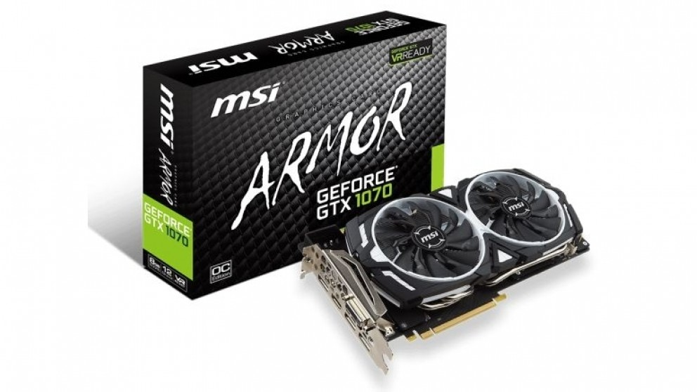 MSI NVIDIA GeForce GTX 1070 Armor OC 8GB Graphics Card (Hardware Components)