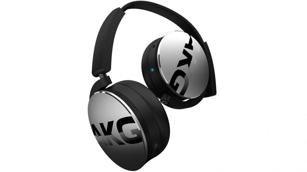 AKG Y50BT Wireless On-Ear Headphones - Silver