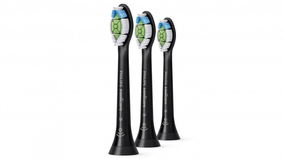 Philips Sonicare W2 Optimal White Toothbrush Heads (3 Pack) - Black