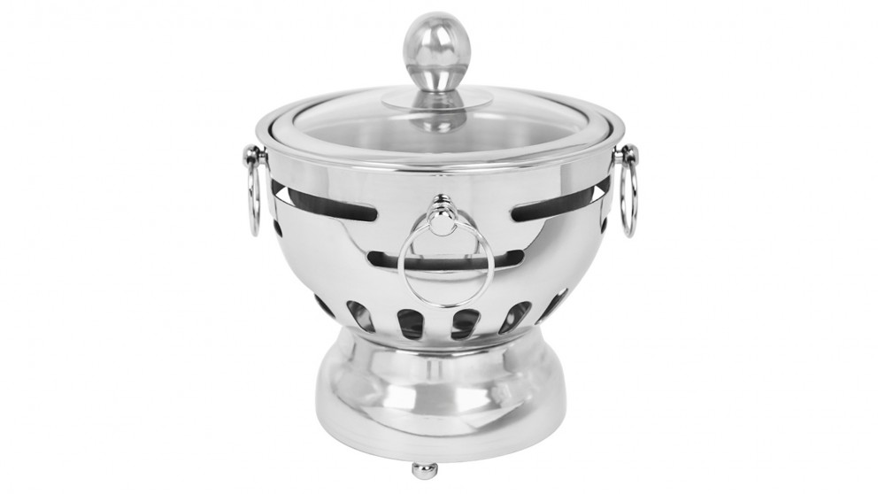 SOGA Stainless Steel Mini Asian Buffet Hot Pot Stove Burner with Glass Lid