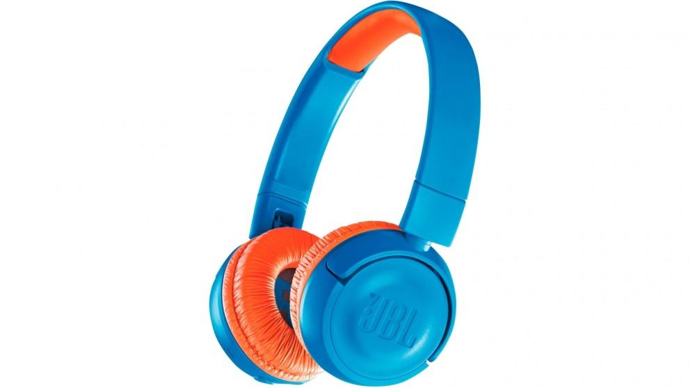 JBL JR300BT Kids Wireless On-Ear Headphones - Blue/Orange