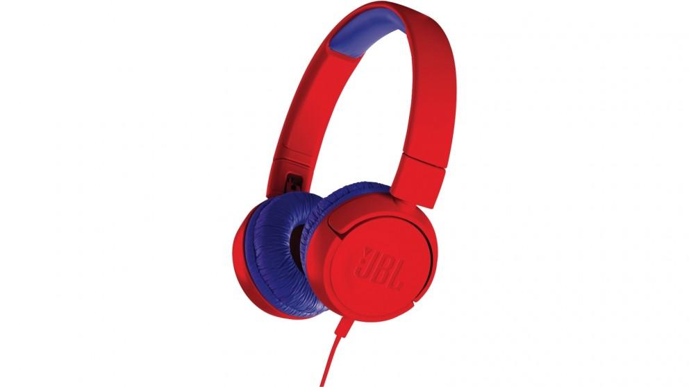 JBL JR300 Kids On-Ear Headphones - Red