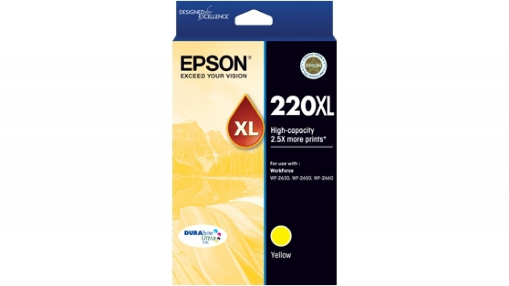 Epson 220XL DURABrite Ultra High Capacity Ink Cartridge - Yellow