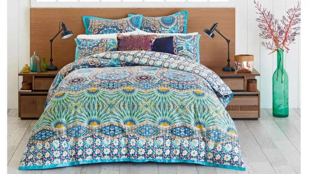 Mandalay Aqua Quilt Cover Set