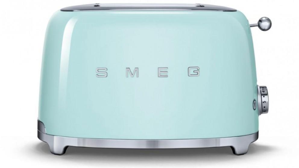Smeg 50's Style Series 2 Slice Toaster - Green