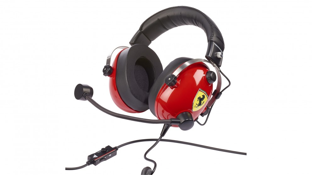 Thrustmaster T-Racing Scuderia Ferrari Gaming Headset - Officially Licensed