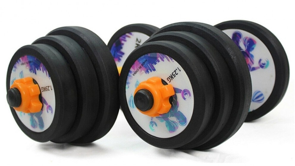 JMQ Bodybuilding Black Cast Iron Adjustable Dumbbells Set - 30kg