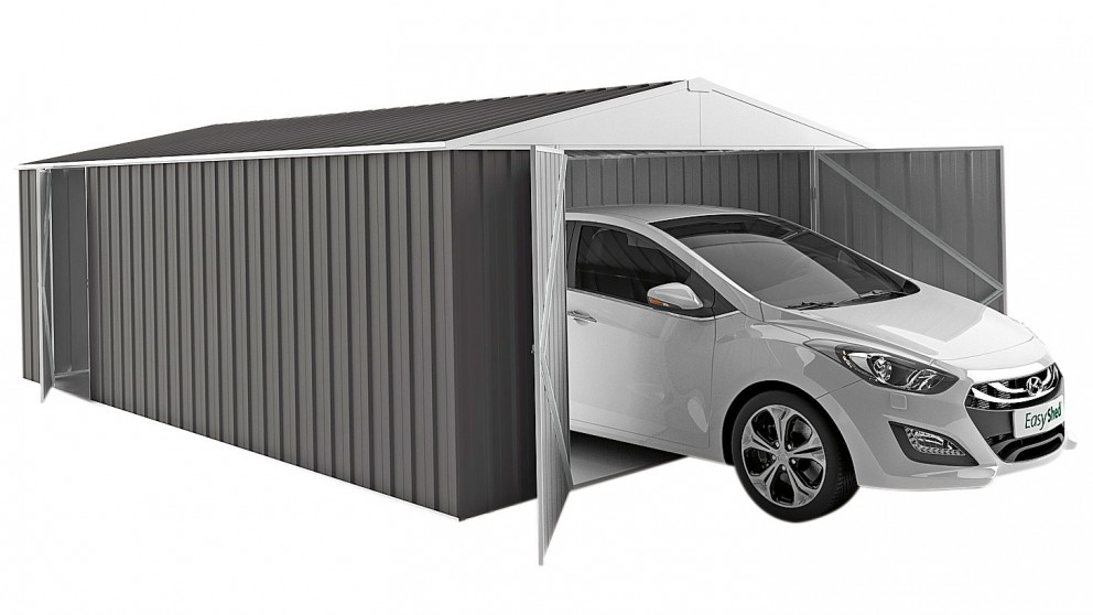 EasyShed 600cm Garage Shed - Slate Grey