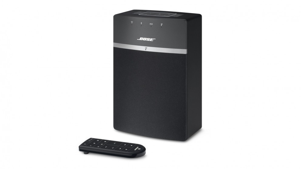 buy bose soundtouch 10 wireless music system speaker black harvey norman au. Black Bedroom Furniture Sets. Home Design Ideas