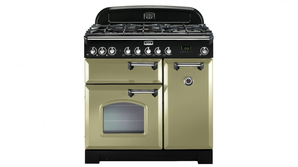 Falcon Classic Deluxe 900mm Dual Fuel Freestanding Cooker - Olive Green Chrome