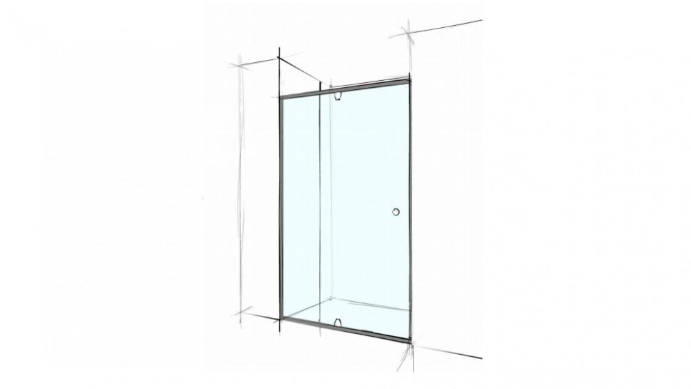 Verotti Custom 1800mm Semi Frameless Wall to Wall 3 Panels Shower Screen - Clear