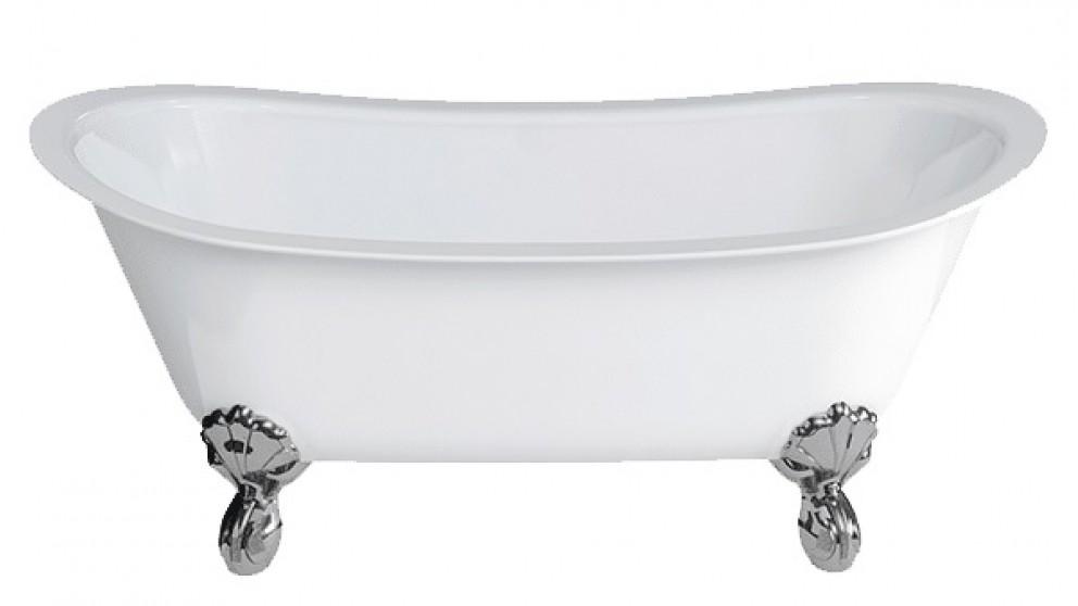 Gareth Ashton Batello 1690mm Stone Freestanding Bath with White Claw Feet