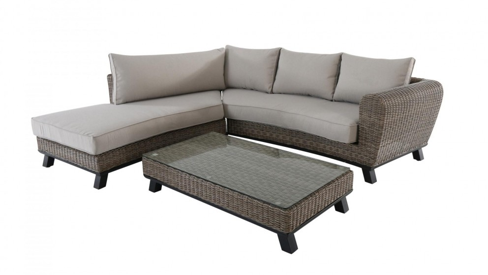 Buy lilac 3 piece outdoor corner lounge setting harvey for Outdoor furniture harvey norman