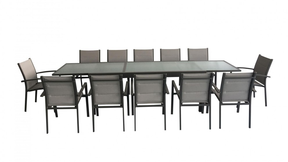 Laura 13 Piece Outdoor Rectangular Extension Dining Setting Thumbnail.  Contact Us For Price