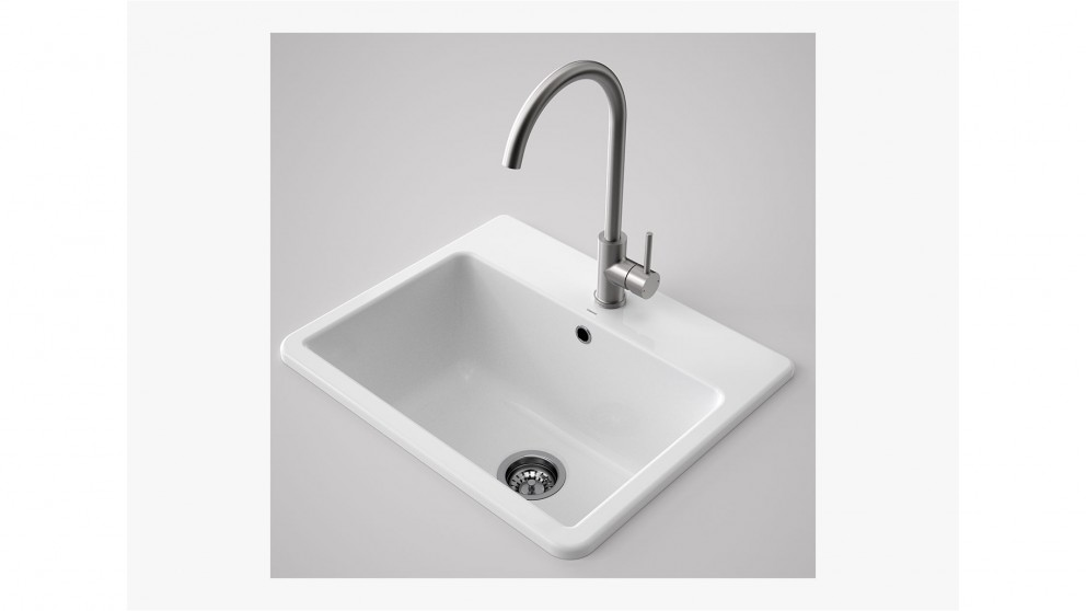 ceramic kitchen sink sale buy caroma cubus ceramic laundry tub 1 tap harvey 5179
