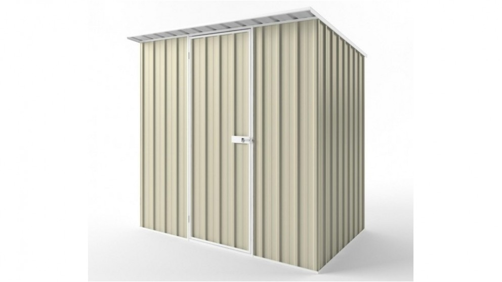EasyShed S2315 Skillion Roof Garden Shed - Smooth Cream