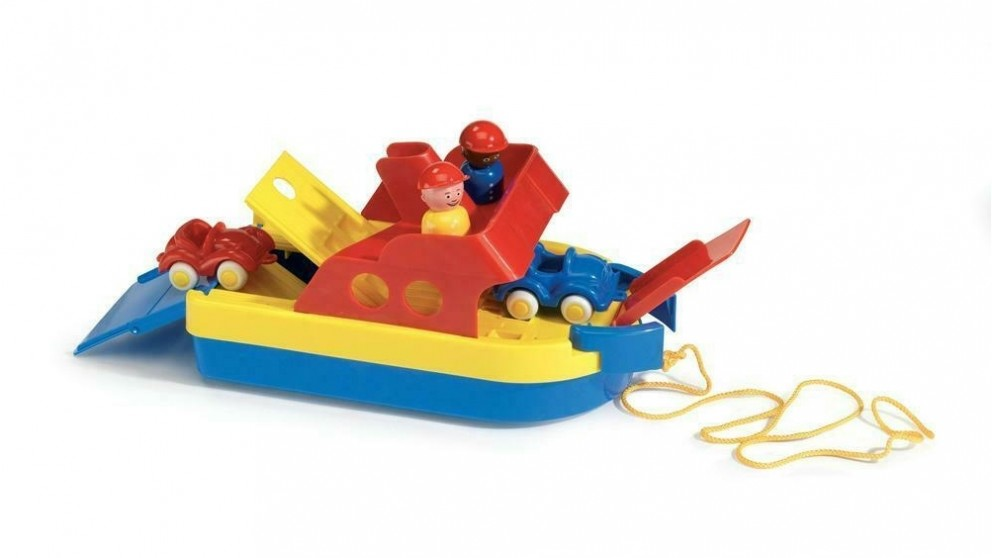 Viking Toys Ferry Boat with 2 Cars and 2 Figures