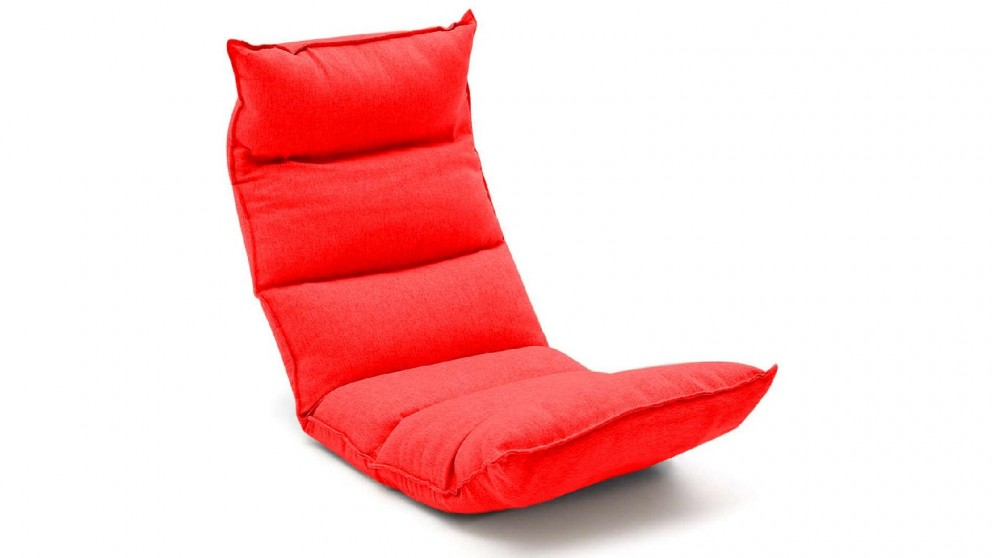 Soga Floor Recliner Lazy Chair - Red