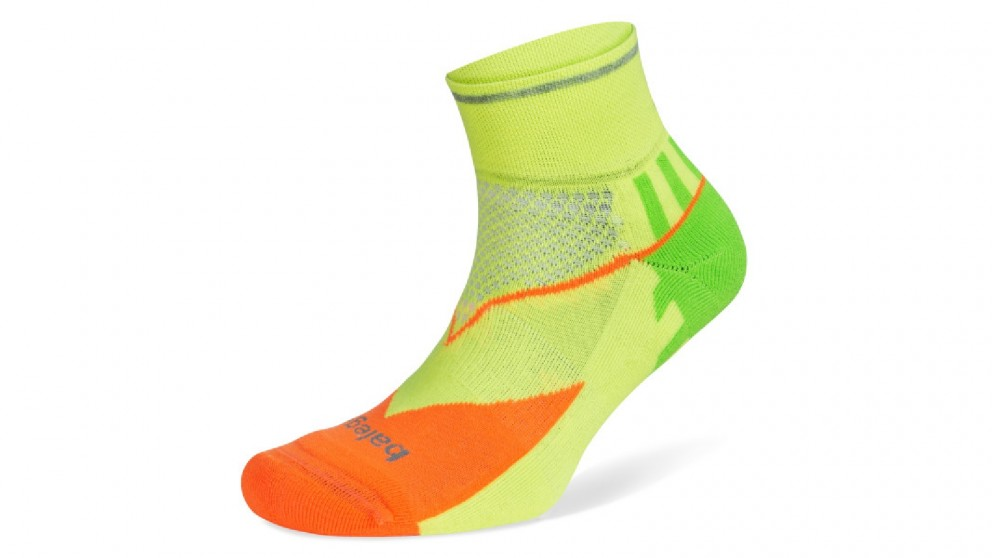 Balega Enduro Reflective Quarter Neon Socks - Small