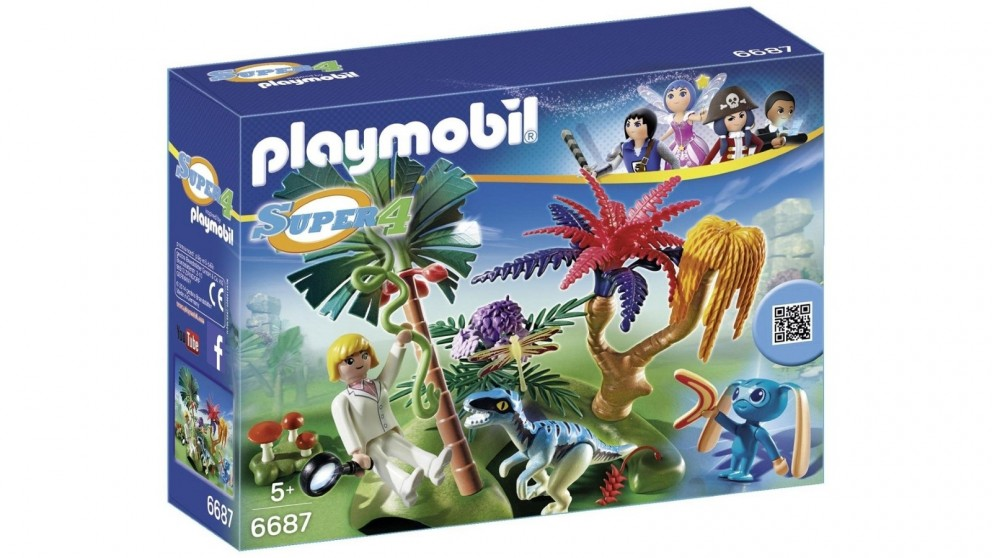 Playmobil Lost Island With Alien & Raptor