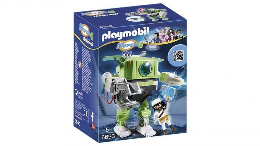 Playmobil Super 4 Cleano Robot