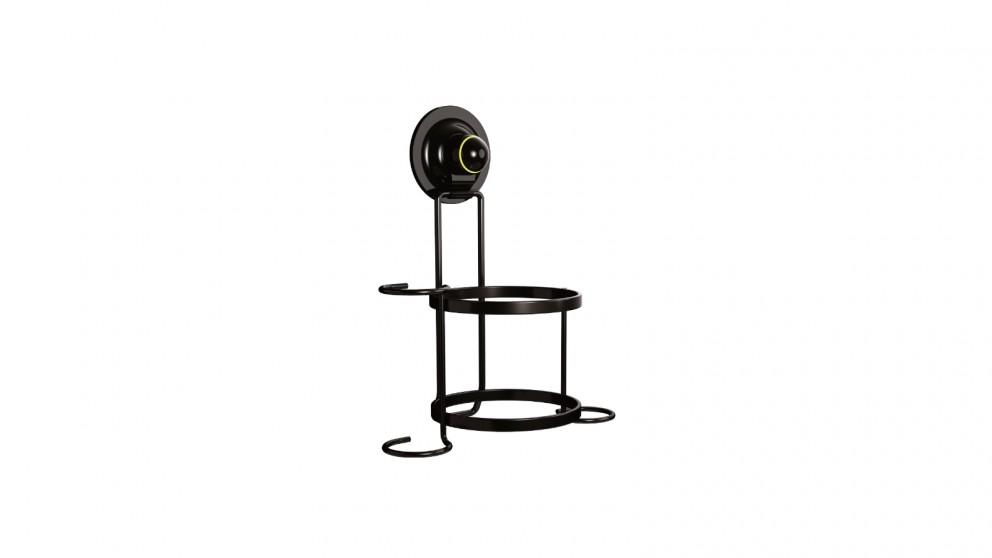 Kialoc Hair Dryer Holder with Suction Hooks - Black