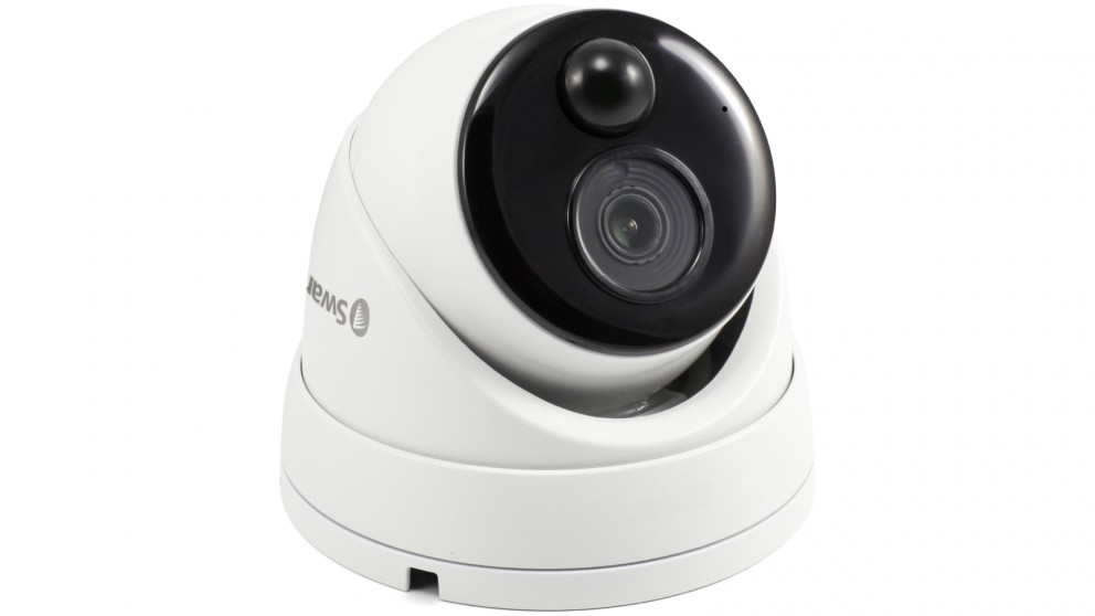 Swann 4K Ultra HD True Detect Thermal-Sensing Dome Security Camera with  Audio