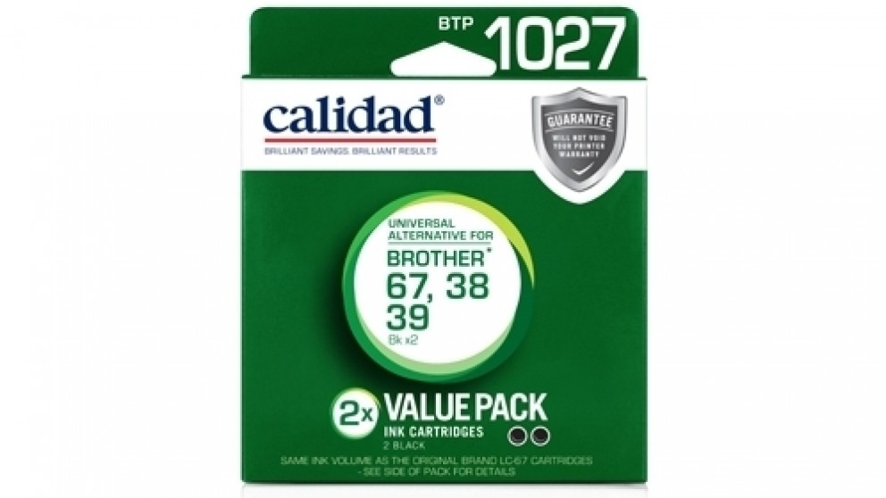 Calidad Brother LC-38/39/67 Black Two Pack Ink Cartridge