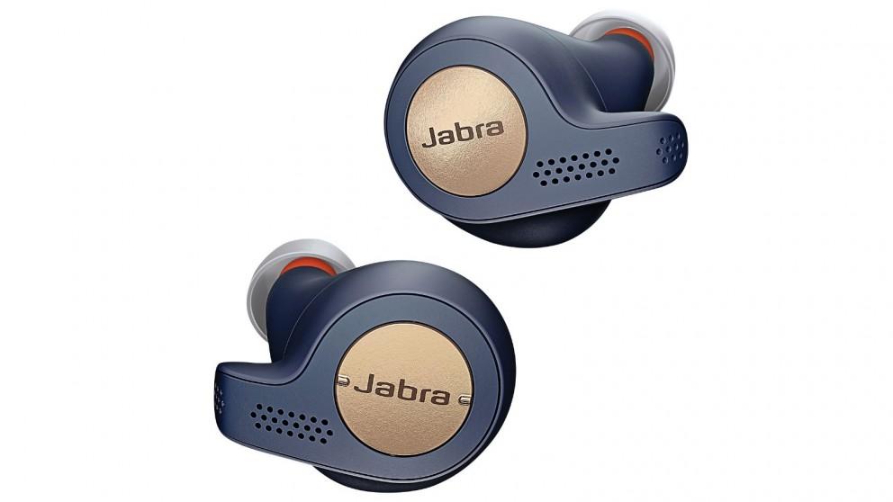 Jabra Elite Active 65T Wireless Earbuds - Copper/Blue