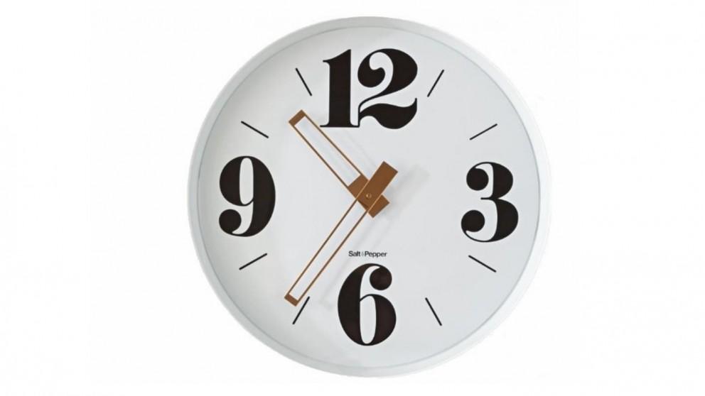 Zone Gold Hands 60cm Metal Clock - White