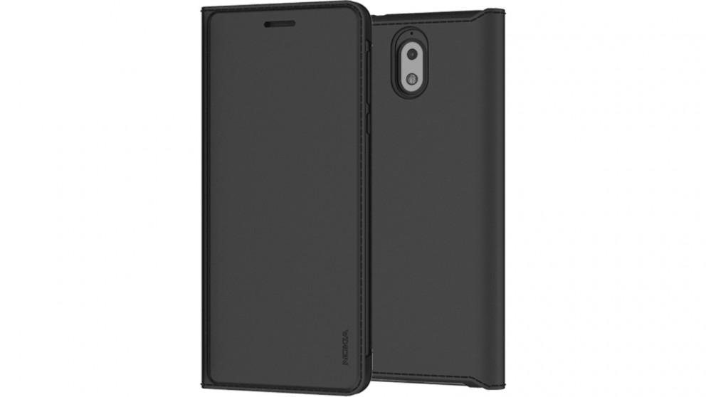 new style 5bae5 53e9a Nokia 3.1 Flip Cover - Black