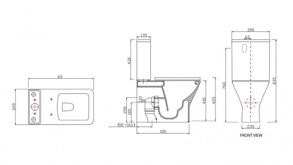 Parisi Quad Wall Faced Toilet Suite