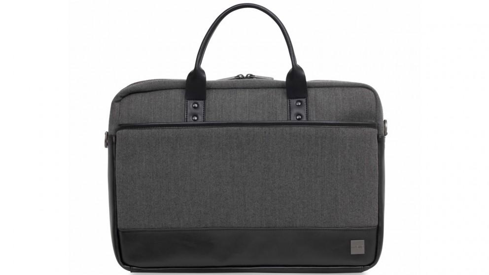"Knomo Holborn Princeton 15.6"" Laptop Briefcase - Grey"