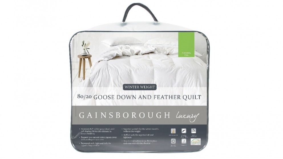 Gainsborough 80/20 Goose Down and Feather Quilt - Queen