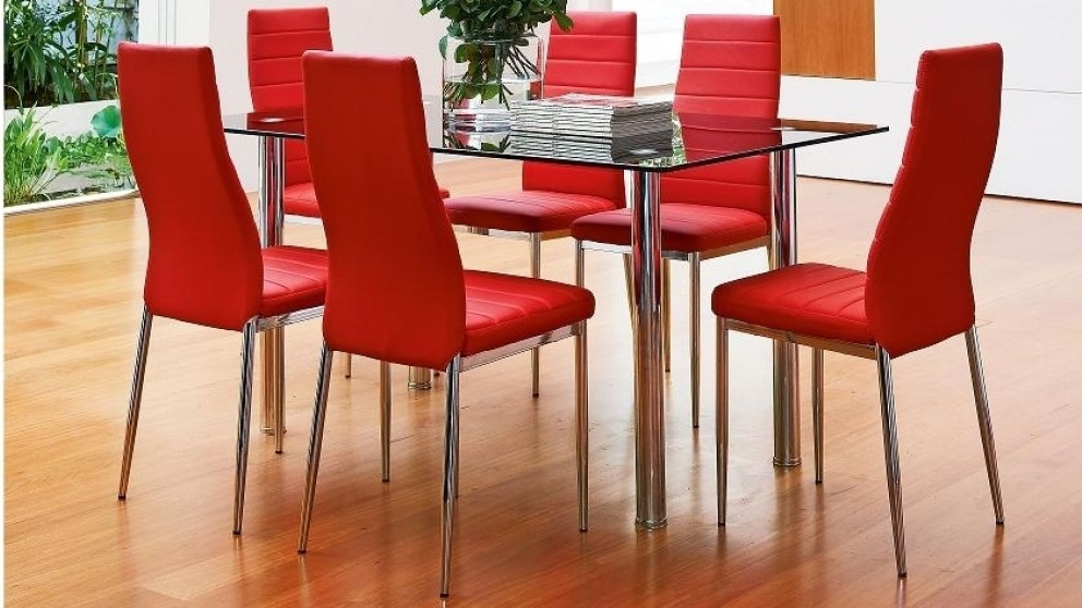 milano 7 piece dining setting - dining furniture - dining room