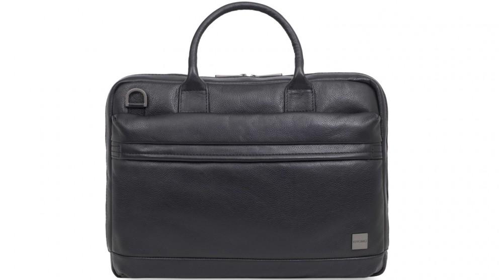 "Knomo Barbican Foster 14"" Leather Laptop Briefcase - Black"
