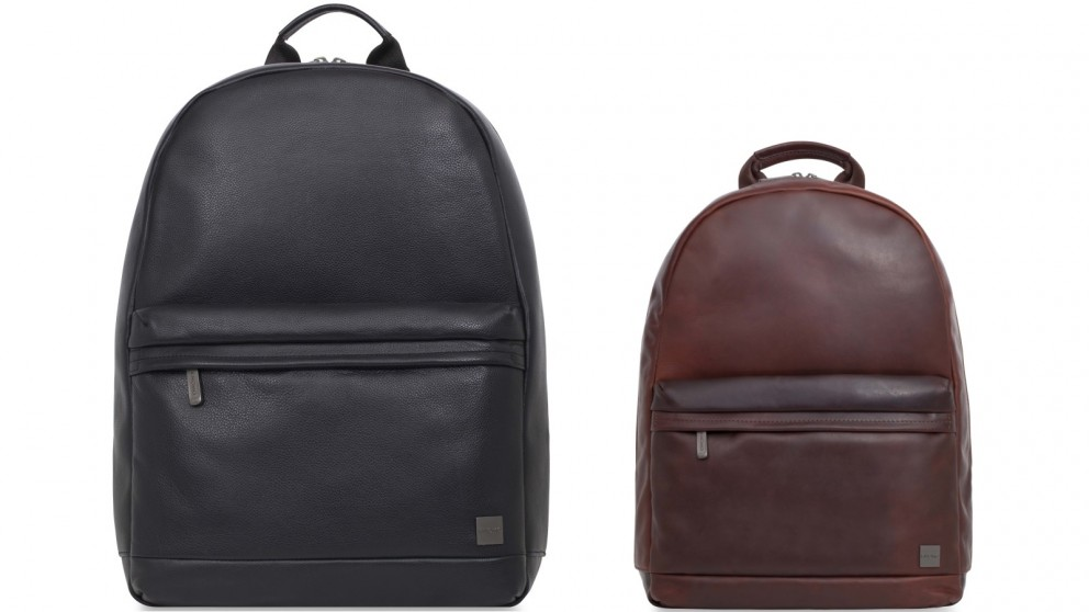 "Knomo Barbican Albion 15"" Leather Laptop Backpack"